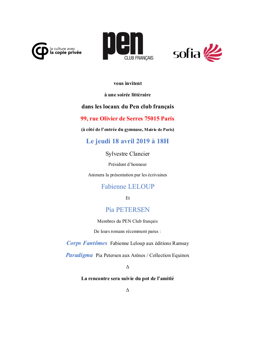 Invitation du Pen Club